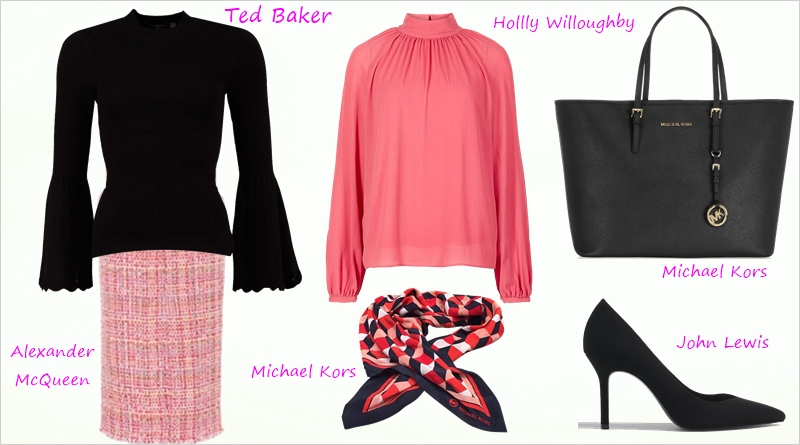 Sophistication and drama in pink and black